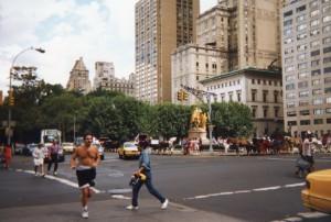 Horses, joggers, tourists