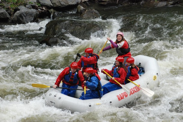 Ro does the rapids SMILING