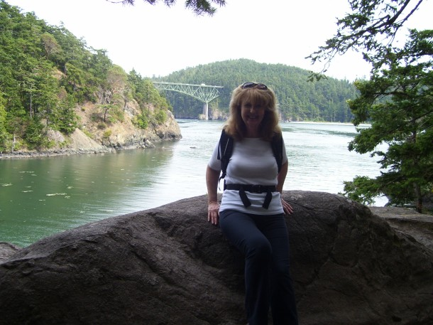 In Deception Pass State Park - taking a photo break