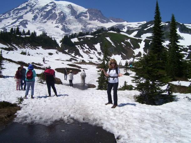 Snow-packed vistas surrounding Paradise Lodge