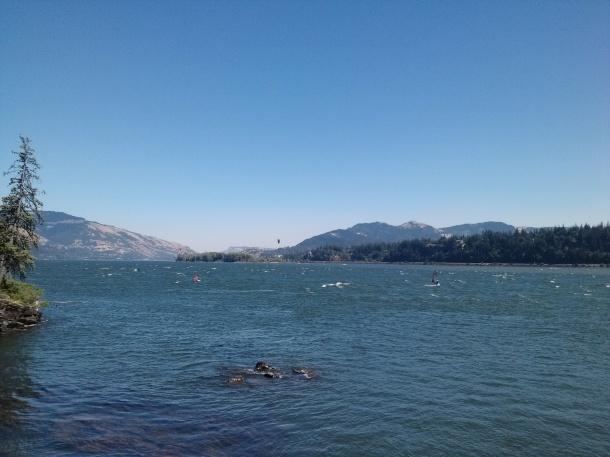 Glacier-blue waters