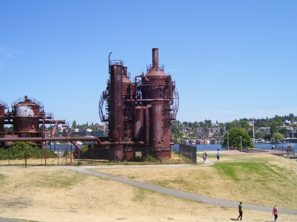 Gasworks Park overlooking Elliott Bay