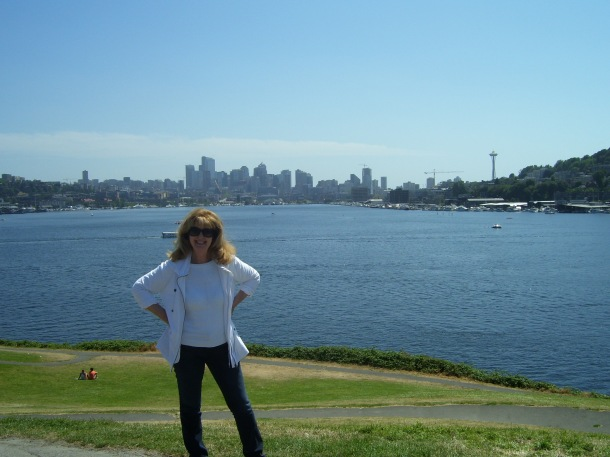 Standing on the shores of Elliott Bay