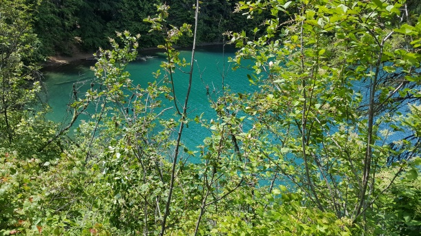 Glacier-blue-green waters