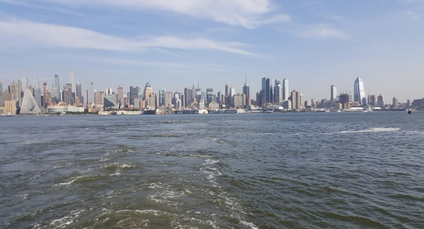 The iconic skyline from the iconic ferry